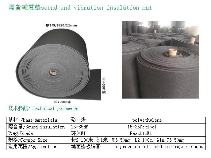 惠州隔音材料 10mm隔音垫价位